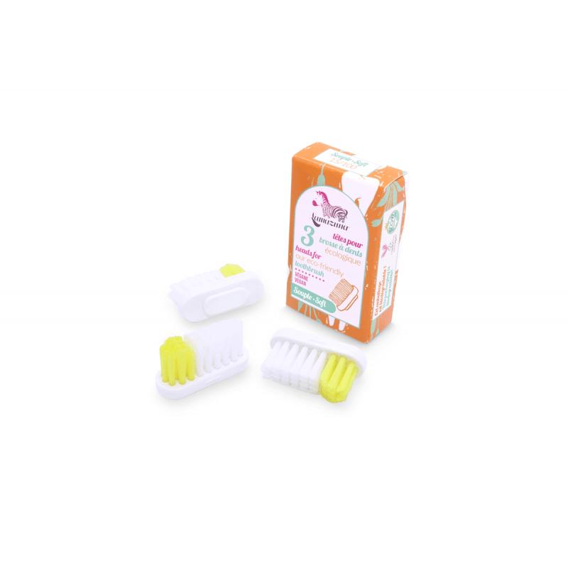 Ricarica 3 testine per spazzolino Lamazuna - setole morbide