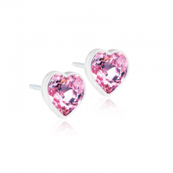 Orecchini Heart B18 Light Rose Blomdahl