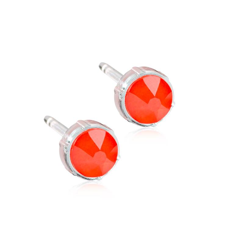 Orecchini Beta B41 Arancione Elettrico Blomdahl