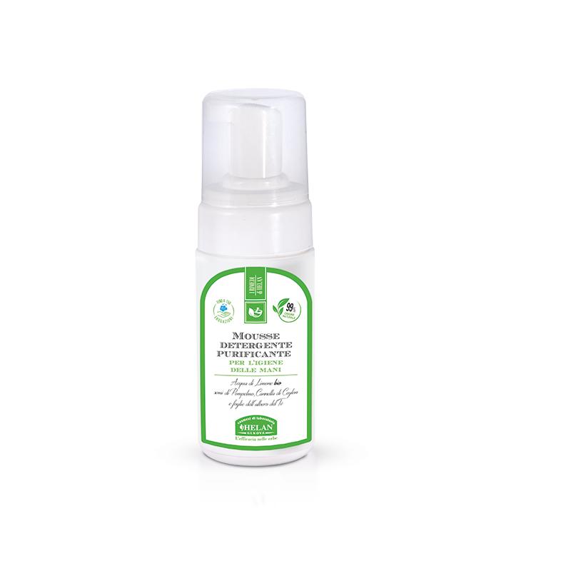 Mousse Detergente Purificante per l'igiene delle mani Helan