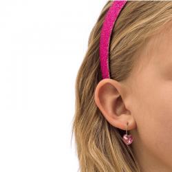 Orecchini Cuori Pendenti  Rosa C8 Blomdahl
