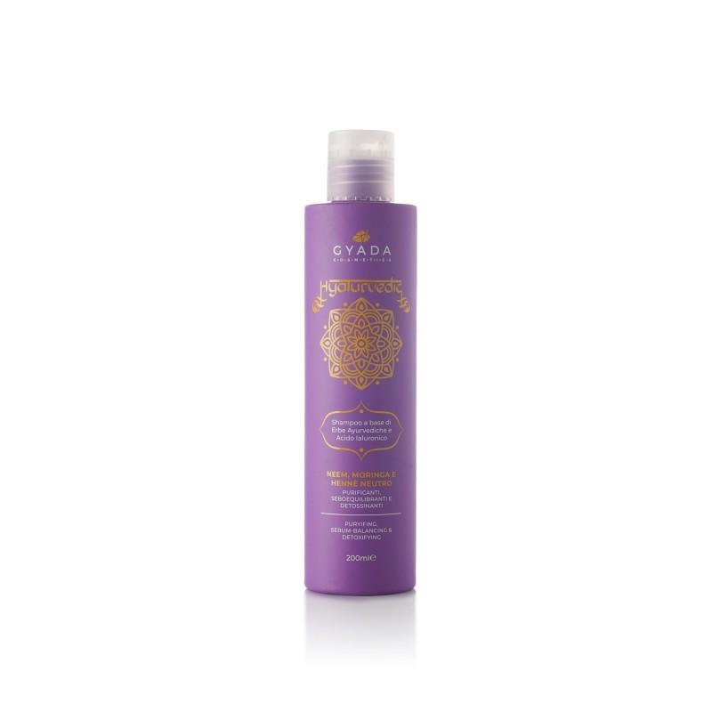 Hyalurvedic Shampoo Purificante - Neem, Moringa, Hennè Neutro Gyada